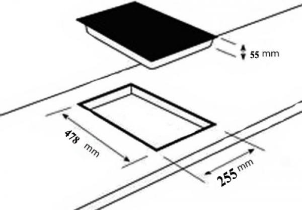 domino 302g gaskochfeld einbau kochfeld glas wok gaskocher 2 flammig lpg edrgas ebay. Black Bedroom Furniture Sets. Home Design Ideas